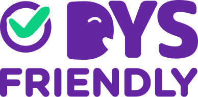 logo dys friendly purple